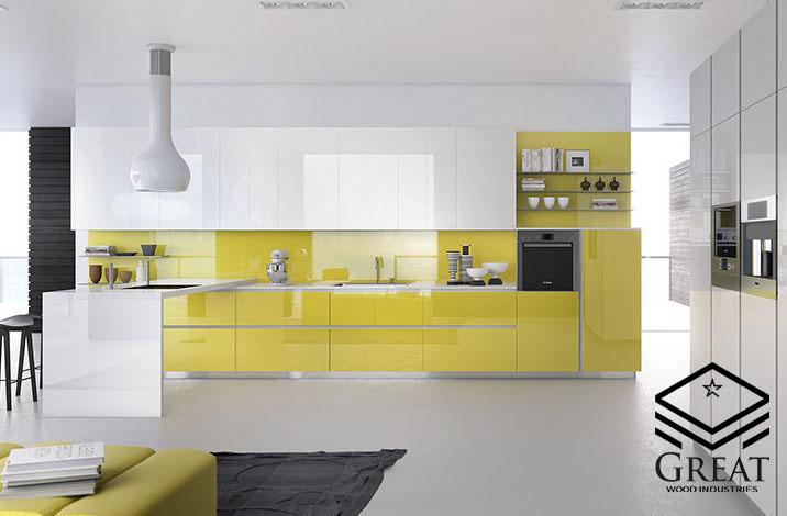 ترکیب رنگ کابینت آشپزخانه هایگلاس (قسمت اول)