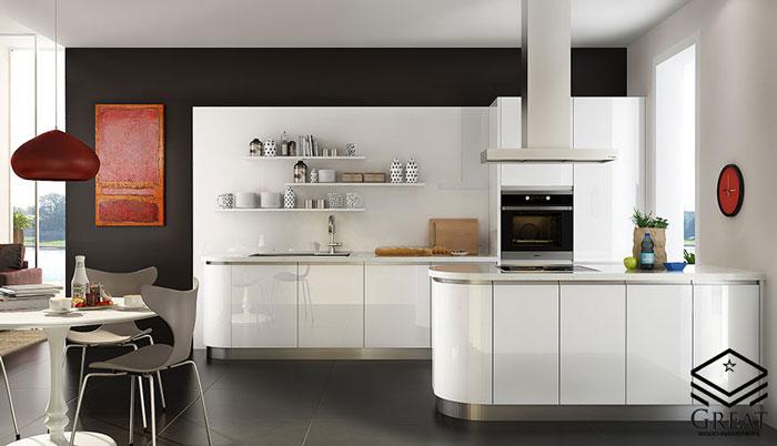 بهترین رنگ و ترکیب رنگ کابینت هایگلاس آشپزخانه
