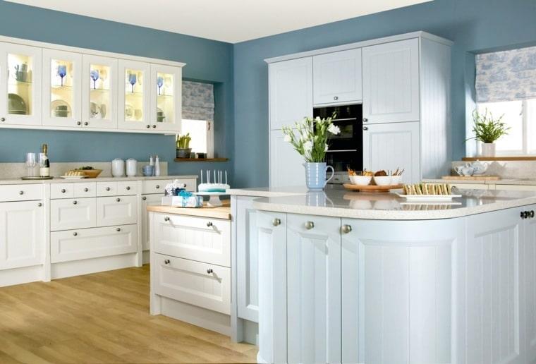دکوراسیون آشپزخانه آبی روشن ۱