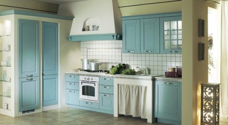 دکوراسیون آشپزخانه آبی روشن ۲