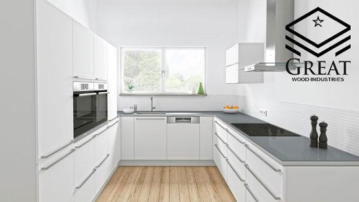 طراحی آشپزخانه یو شکل
