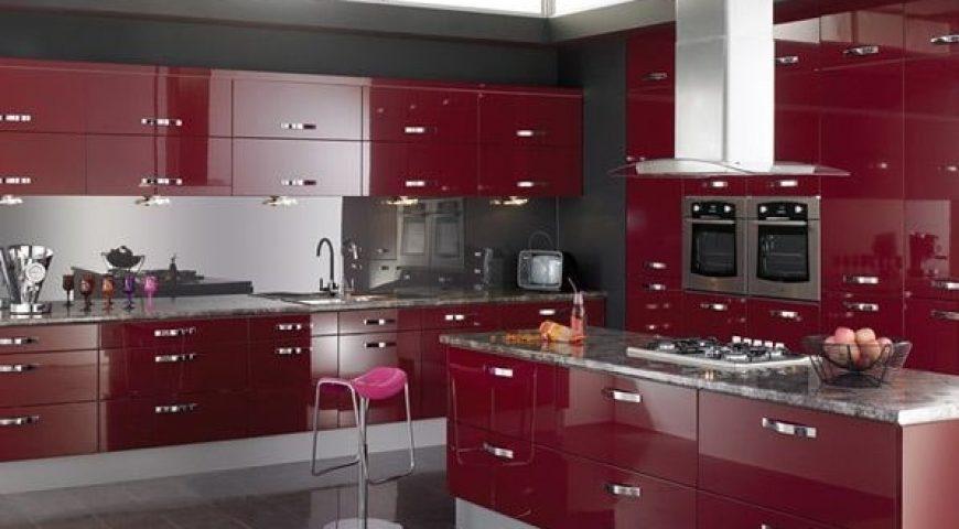 دکوراسیون آشپزخانه رنگ جگری