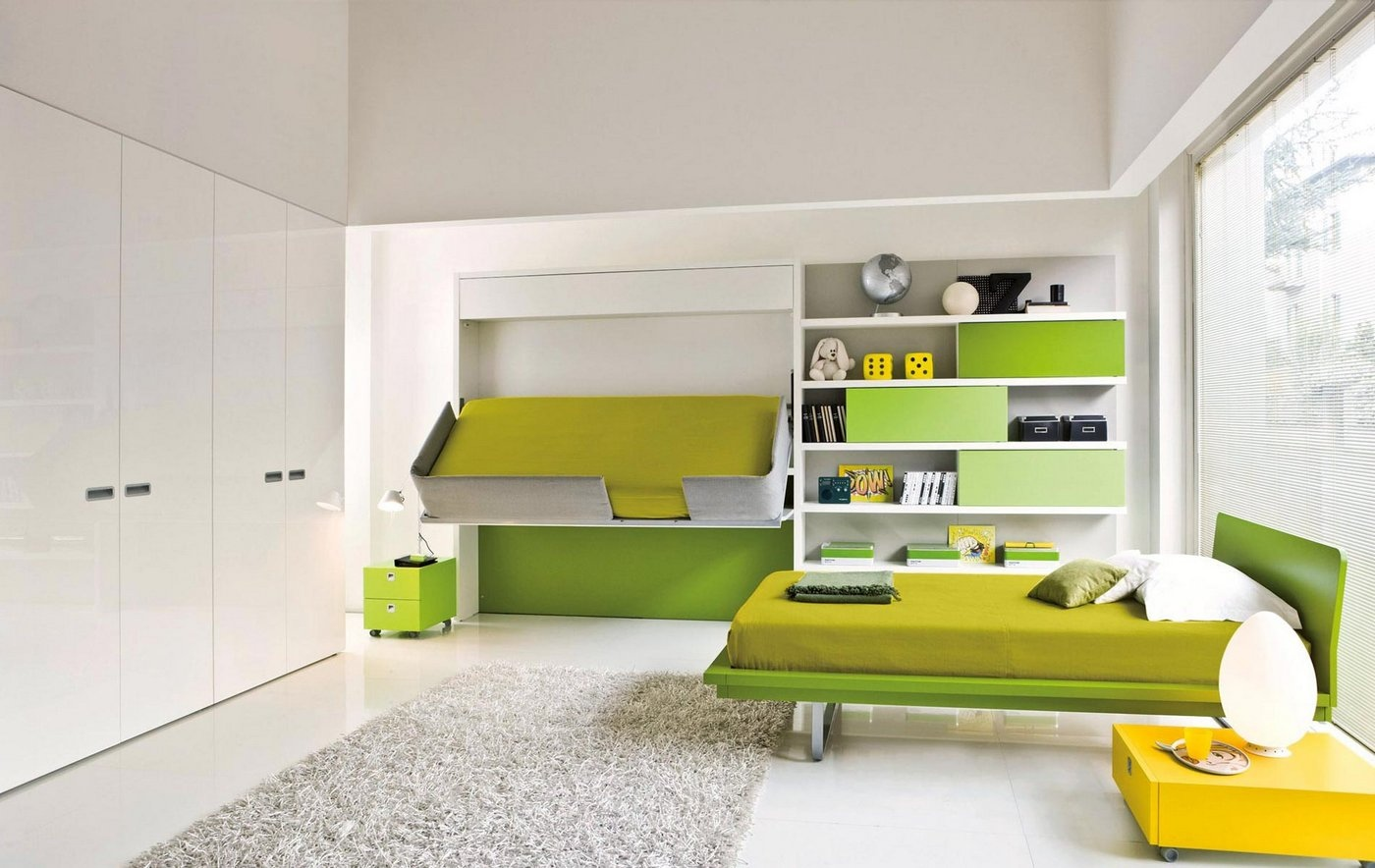تخت کم جا در دکوراسیون لیمویی
