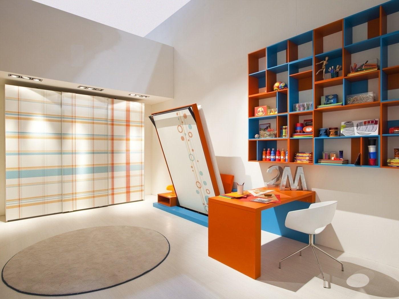 تخت کم جا در دکوراسیون نارنجی