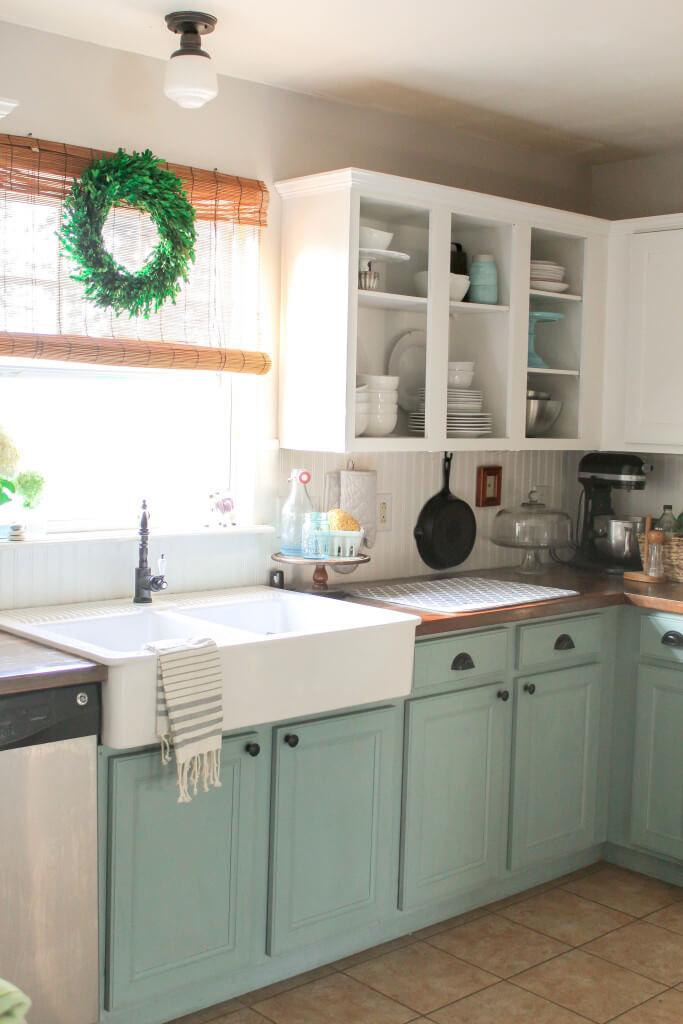دکوراسیون آشپزخانه آبی روشن 1
