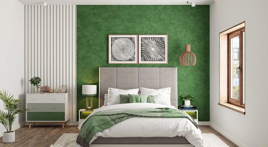 تخت کلاسیک در دکوراسیون سبز