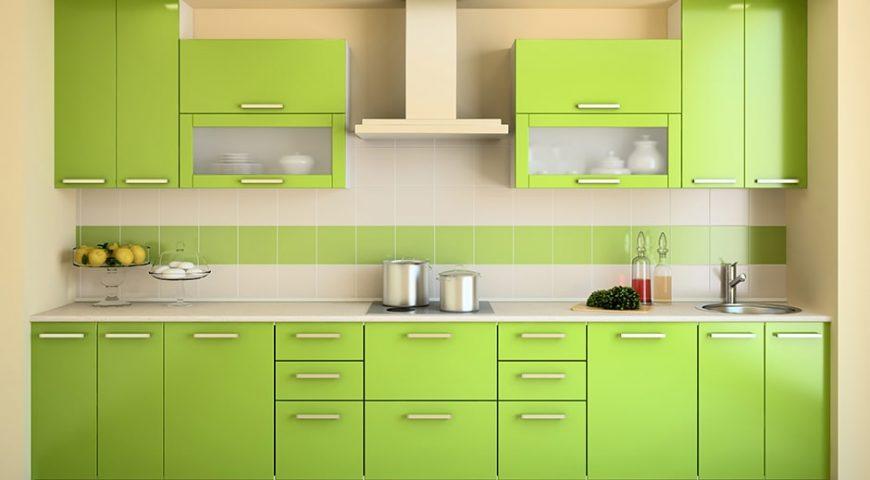 استفاده از رنگ سبز در آشپزخانه