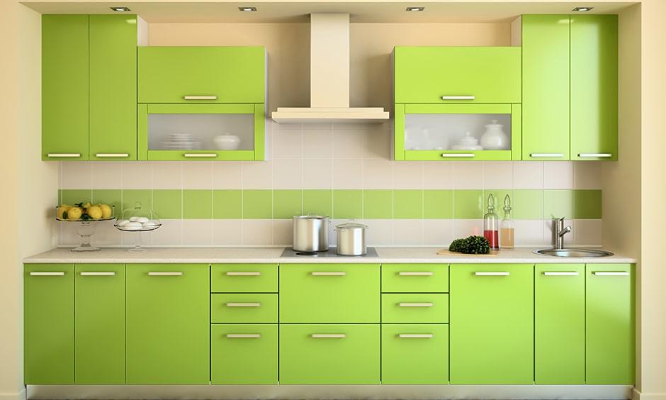 دکواراسیون آشپزخانه رنگ سبز
