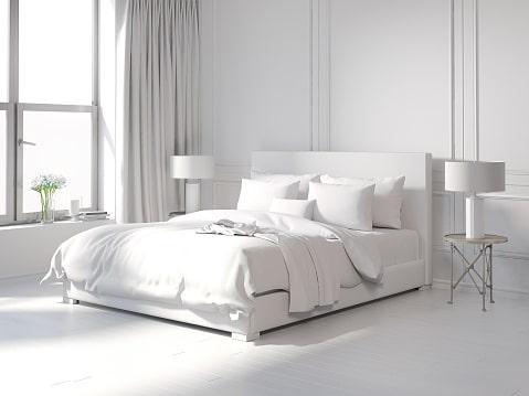 تخت کم جا در دکوراسیون سفید