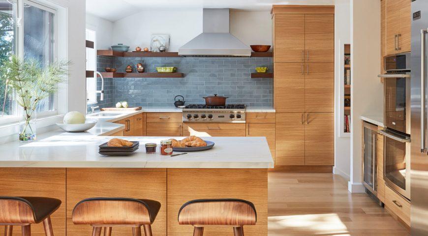 دکوراسیون آشپزخانه رنگ قهوه ای