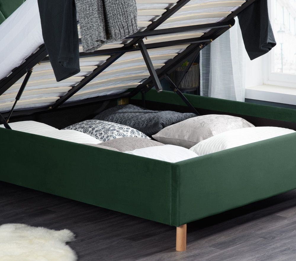 تخت کم جا در دکوراسیون سبز پررنگ