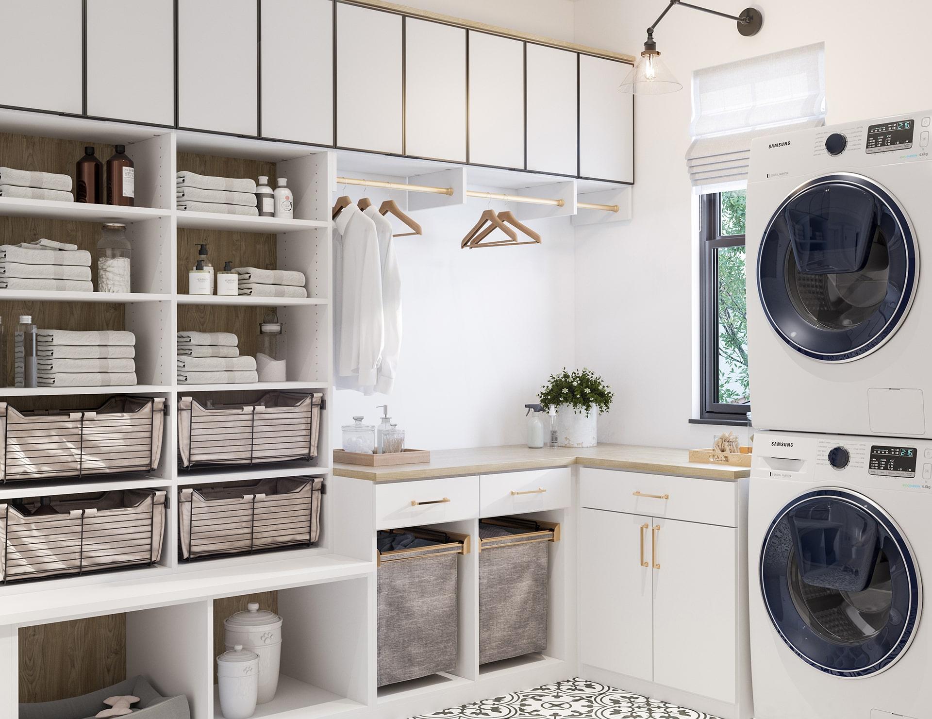 ۴ گزینه برای کابینت اتاق خشکشویی