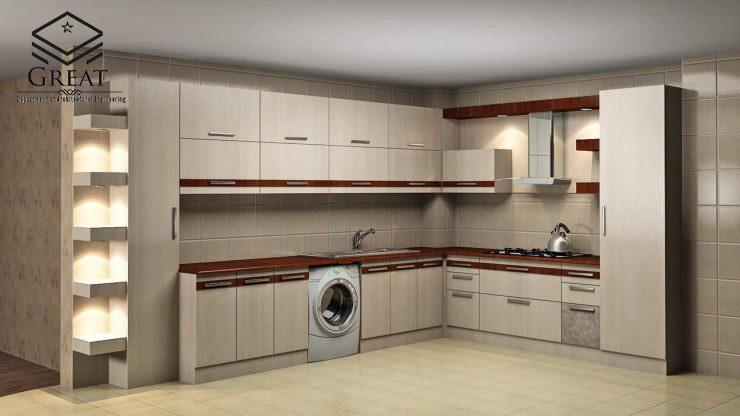 انتخاب رنگ کابینت آشپزخانه - یک