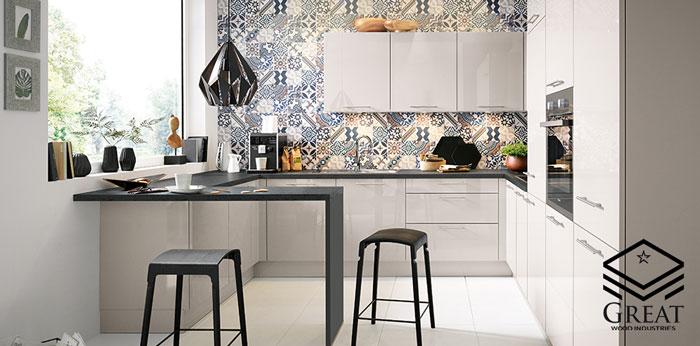 کابینت آشپزخانه مدرن فوق برجسته (فرامید)