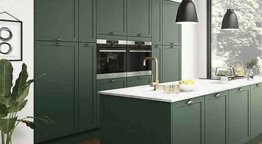 اصول طراحی کابینت با استفاده از رنگ سبز