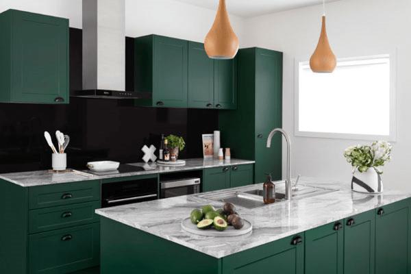 اصول طراحی کابینت سبز