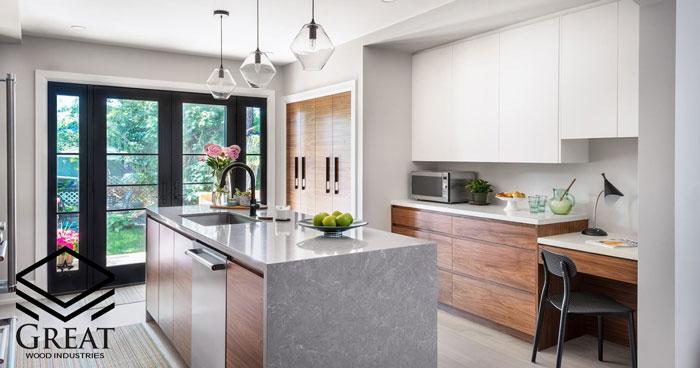 set decoration with modern kitchen 1