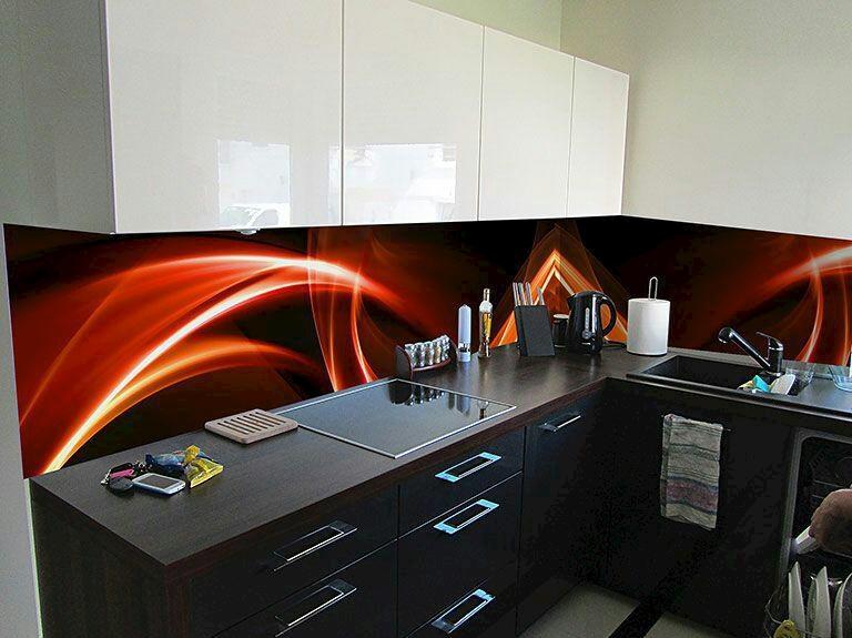شیشه های رنگی در طراحی آشپزخانه