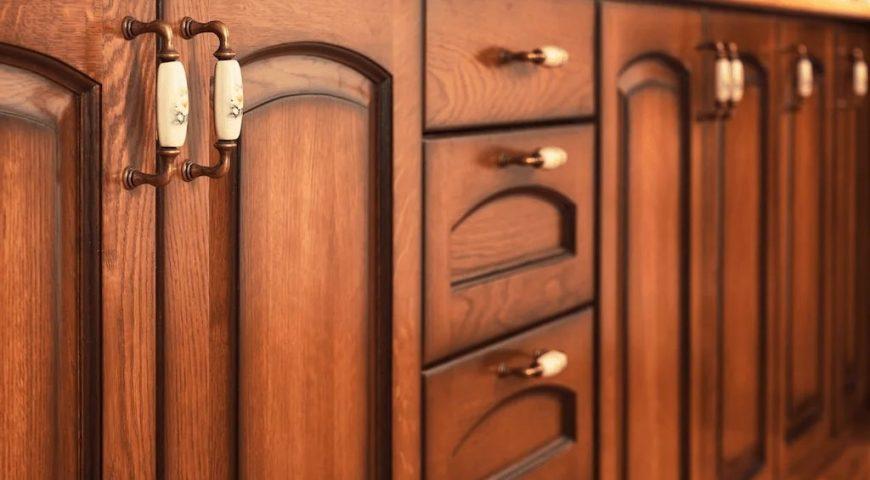 کابینت روکش دار و چوب ساده