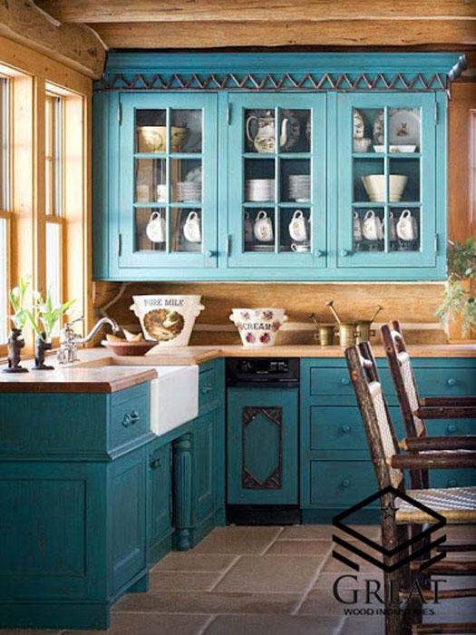 ترکیب بندی رنگ در آشپزخانه