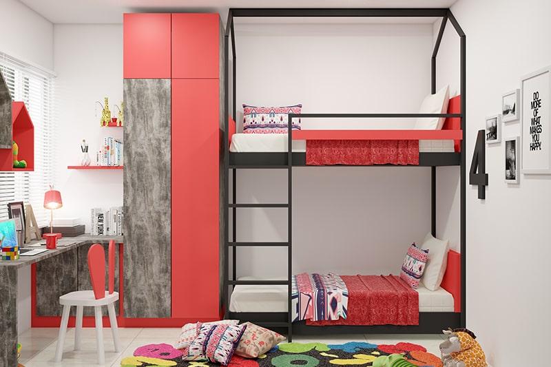 تخت کم جا در دکوراسیون قرمز