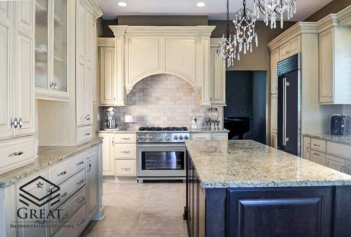 طراحی آشپزخانه سنتی