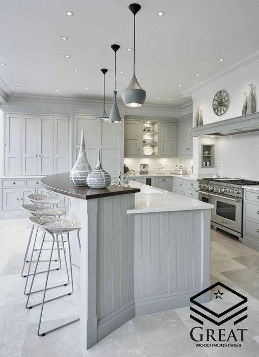 کابینت سفید در دکوراسیون آشپزخانه