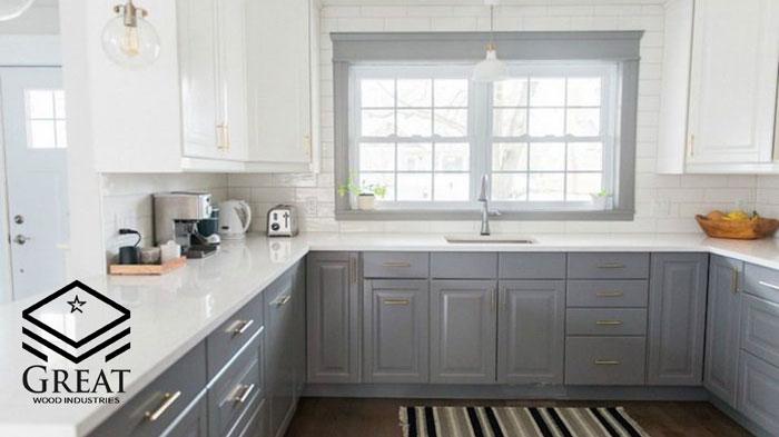 چگونه از ترکیب رنگ های طوسی و سفید برای کابینت های آشپزخانه خود استفاده کنیم؟
