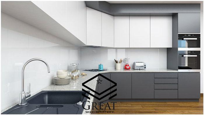کابینت سفید طوسی برای چه آشپزخانه ای مناسب است ؟